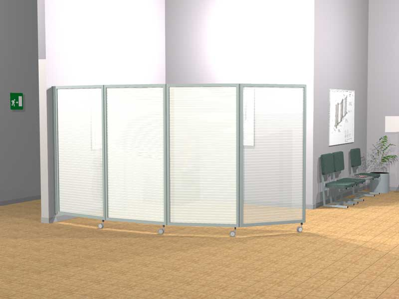 Ala roller light pannelli divisori pareti mobili separ su ruote schermi flessibili - Pannelli divisori ikea ...