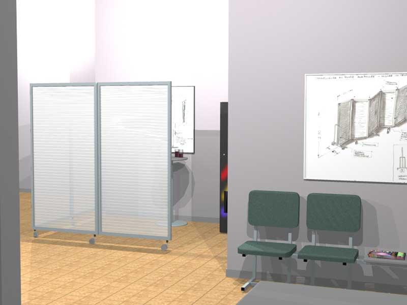 Ala roller light pannelli divisori pareti mobili separ su ruote schermi flessibili - Separe per ufficio ikea ...