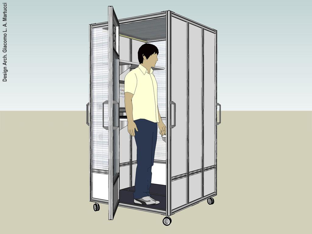 Concept   pannelli divisori, pareti mobili, separè su ruote ...