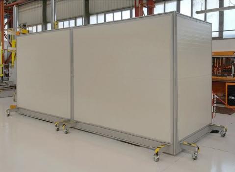 Linea jumbo pannelli divisori pareti mobili separ su - Pannelli fonoassorbenti per interni ...