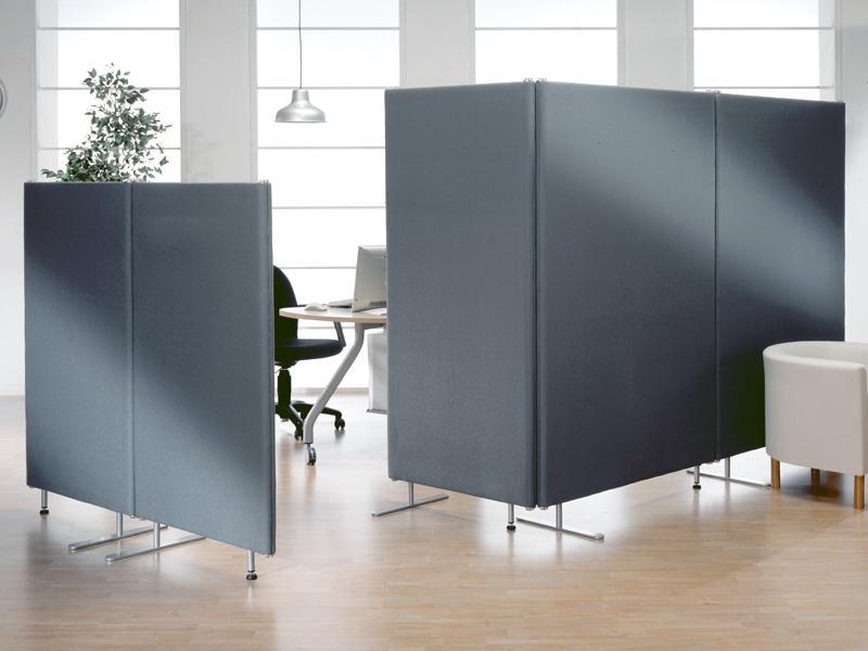 Linea phonotex pannelli divisori pareti mobili separ for Divisori mobili per ufficio
