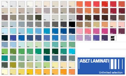 Laminati abet colori for Gamma colori pareti